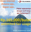 Langganan Internet Telkomsel Unlimited Up To 3.6 Mbps