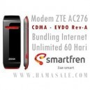 Modem EVDO ZTE AC2726 bundling internet unlimited smart 60 hari